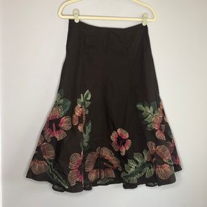 Sunny Leigh Floral Embroidered Skirt